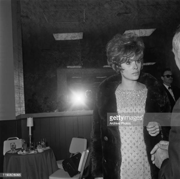 American actress Jill St John at a party in Palm Springs, California, USA, circa 1965.