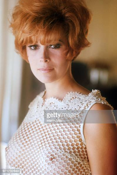 American actress Jill St. John poses for a portrait in a net shirt... News Photo - Getty Images
