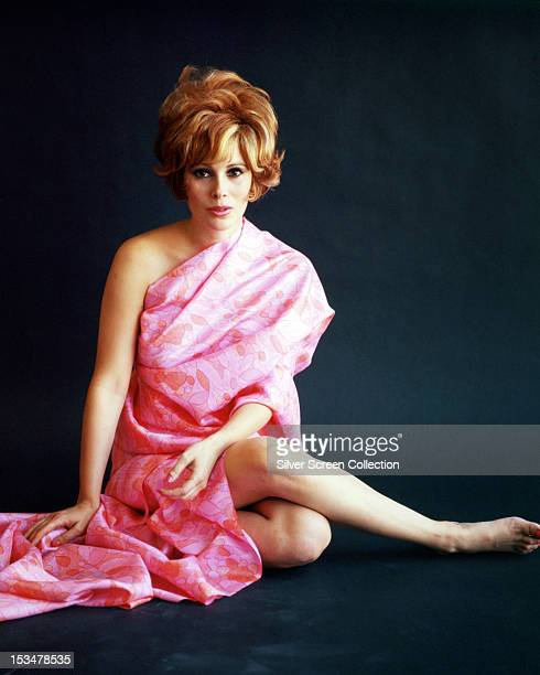 American actress Jill St John wearing a pink robe, circa 1967.