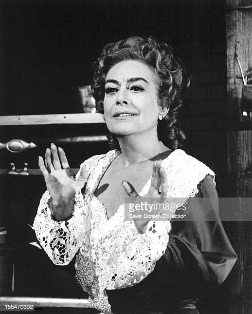 American actress Joan Crawford as Stephanie White in 'Nightmare' an episode of the US TV series 'The Virginian' 1970