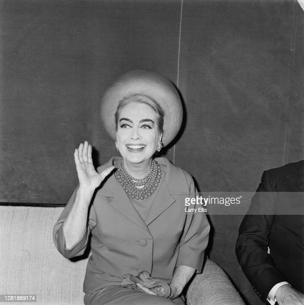American actress Joan Crawford holds a press conference at the Savoy Hotel in London, UK, 18th April 1966. She is in the capital in her capacity as a...