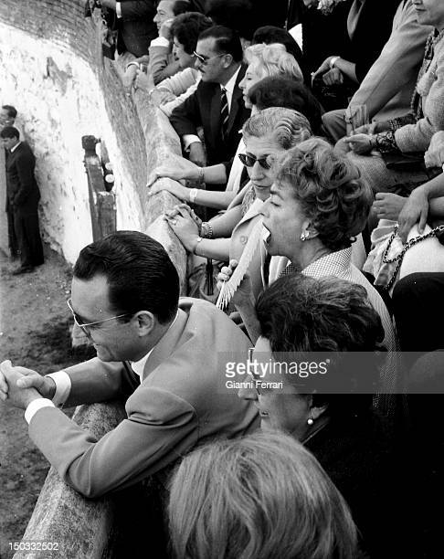 American actress Joan Crawford in a bullfight in Alcobendas 29th May 1962 Alcobendas Spain