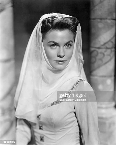 American actress Joanne Dru as Lady Joan Holland in 'The Dark Avenger' directed by Henry Levin 1955