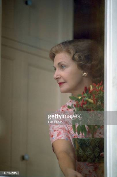 American actress Joanne Woodward on the set of the film Mr Mrs Bridge directed by James Ivory