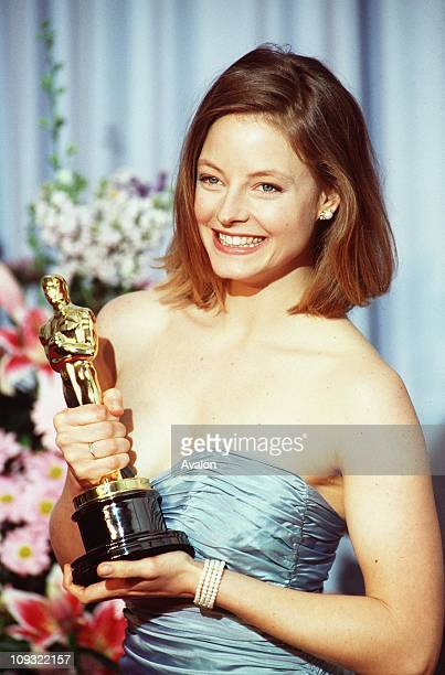 American Actress Jodie Foster, at the 1989 Academy Awards.