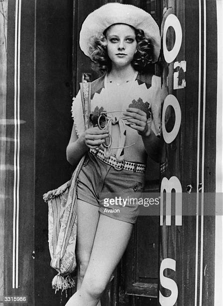 American actress Jodie Foster plays a 12-year-old prostitute working at a 42nd Street brothel in New York, in the film 'Taxi Driver'.