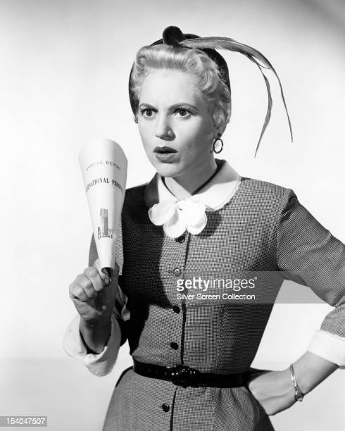 American actress Judy Holliday as Laura Partridge in 'The Solid Gold Cadillac' directed by Richard Quine 1956