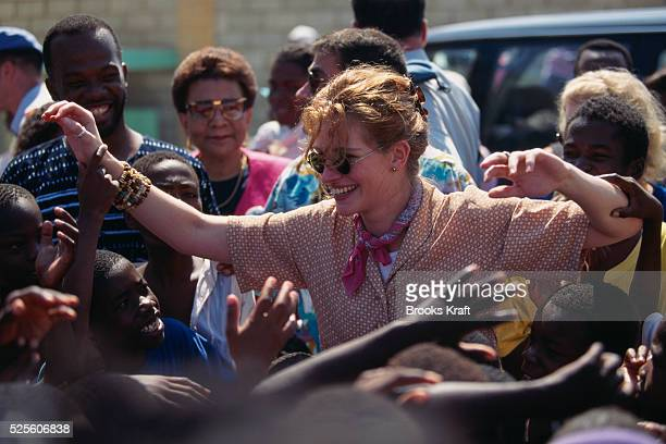 American Actress Julia Roberts as UNICEF Representative in Haiti