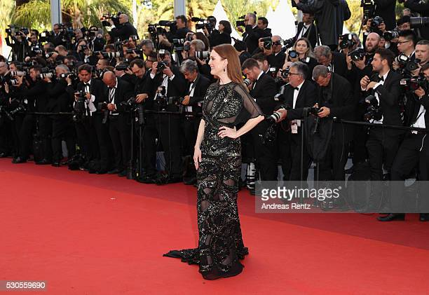 American actress Julianne Moore attends the Cafe Society premiere and the Opening Night Gala during the 69th annual Cannes Film Festival at the...