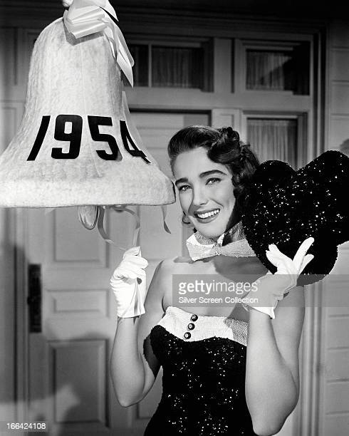 American actress Julie Adams poses for a new years' portrait 1954