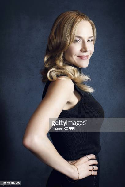 American actress Julie Benz session portrait during Defiance TV show promo on February 27, 2013 in Paris, France. Actress in Defiance , Sole Custody...