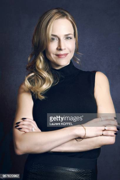 American actress Julie Benz session portrait during Defiance TV show promo on February 27 2013 in Paris France Actress in Defiance Sole Custody A...