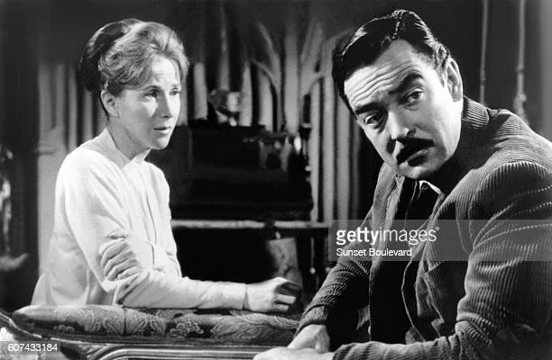 American actress Julie Harris and British actor Richad Johnson on the set of The Haunting based on the novel by Shirley Jackson and directed by...