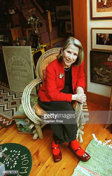 American actress Julie Harris at her home in West Chatham Massachusetts 16th January 2001