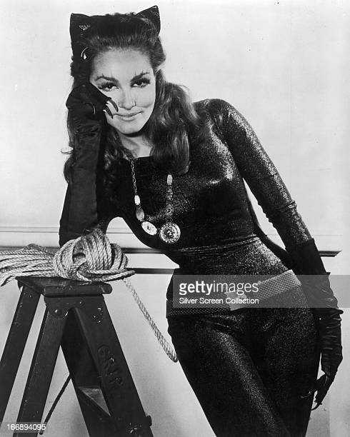 American actress Julie Newmar as Catwoman in a promotional portrait for the TV series 'Batman' circa 1966