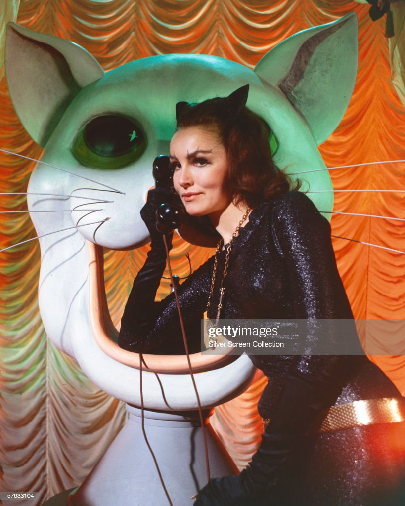 American actress Julie Newmar as Catwoman in the 'Batman' TV series, circa 1966.