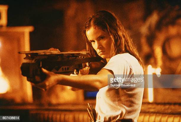 American actress Juliette Lewis on the set of From Dusk Till Dawn directed and produced by Robert Rodriguez