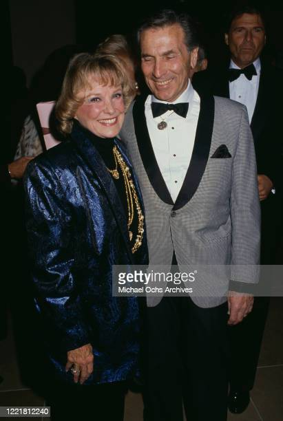 American actress June Allyson and guest attend the 1990 American Cinema Awards held at the Beverly Hilton Hotel in Beverly Hills California 27th...