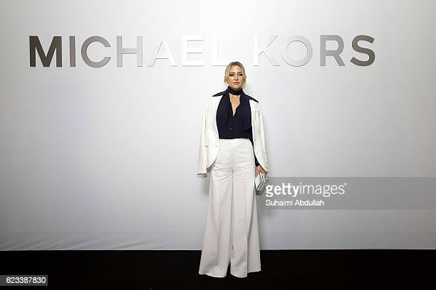 American actress Kate Hudson attends the Michael Kors Mandarin Gallery Flagship Store Opening Cocktail Partyat Orchard Road on November 15 2016 in...