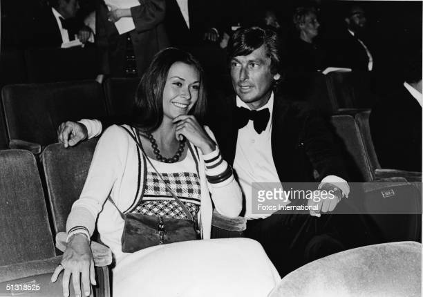 American actress Kate Jackson and producer Robert Evans attend the 45th Annual Academy Awards at the Dorothy Chandler Pavillion Los Angeles...