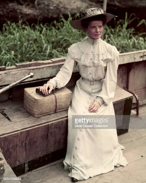 American actress Katharine Hepburn as Rose Sayer in the film 'The African Queen' 1951