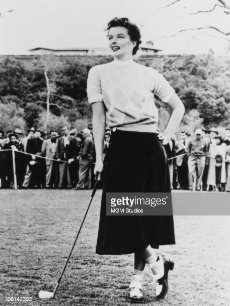 American actress Katharine Hepburn in 'Pat And Mike' directed by George Cukor 1952