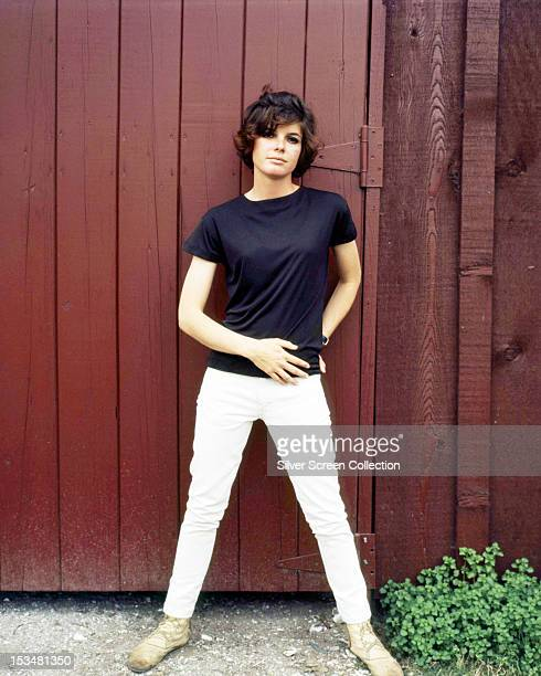 American actress Katharine Ross in white jeans and a dark tshirt circa 1965