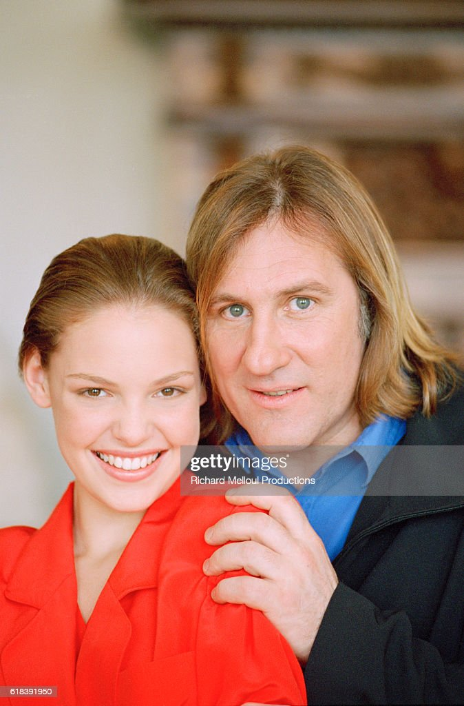 American Actress Katherine Heigl and French Actor Gerard Depardieu : Photo d'actualité