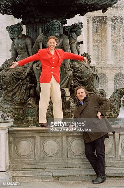 American Actress Katherine Heigl and French Actor Gerard Depardieu