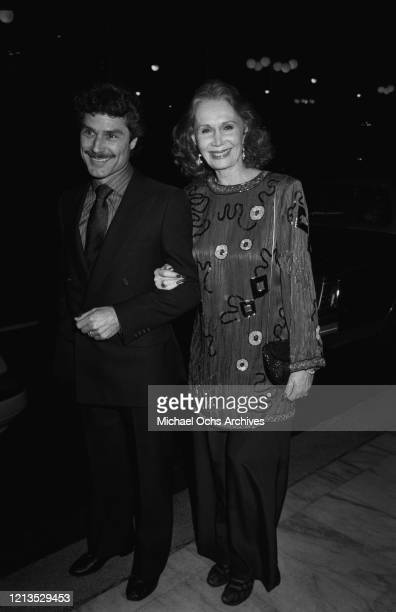American actress Katherine Helmond with her husband David Christian, circa 1985.