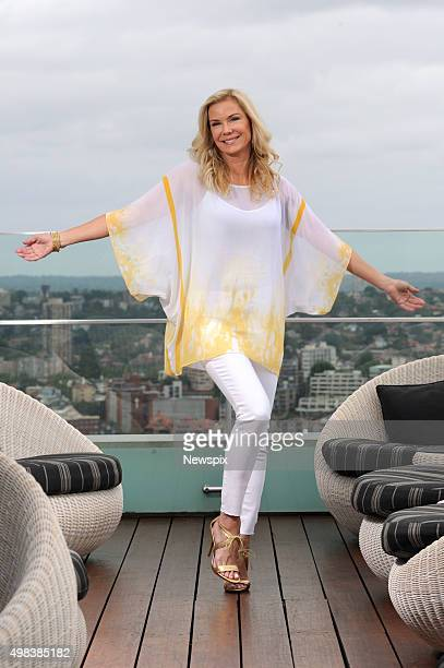 American actress Katherine Kelly Lang who plays Brooke Logan on daytime soap opera 'The Bold and the Beautiful' poses during a photo shoot in Sydney...