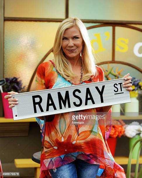 American actress Katherine Kelly Lang who plays Brooke Logan on daytime soap opera 'The Bold and the Beautiful' pictured on the set of Australian...