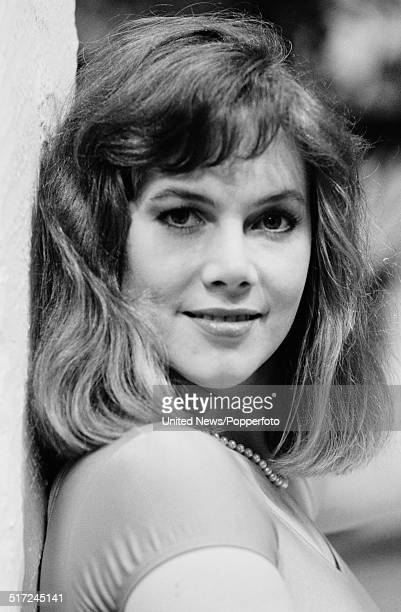 American actress Kathleen Turner posed at the Sanctuary Health Club in Covent Garden, London on 18th January 1982.