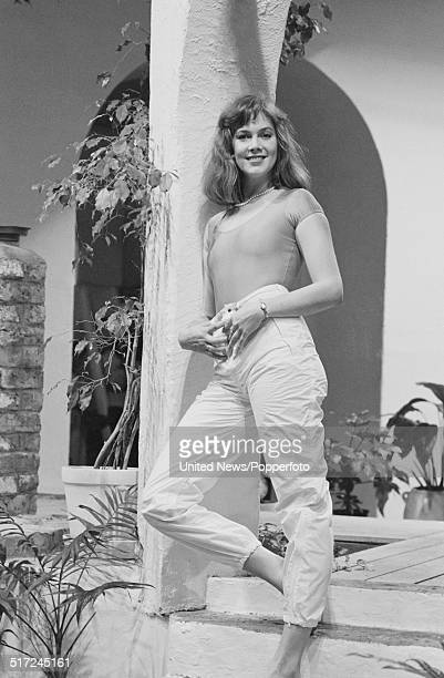 American actress Kathleen Turner posed at the Sanctuary Health Club in Covent Garden London on 18th January 1982