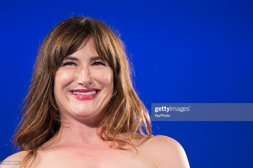 American Actress Kathryn Hahn attends 62 Taormina Film Fest - Day 5 on June 15, 2016 in Taormina, Italy.