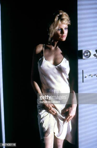 American actress Kim Basinger on the set of Nine 1/2 Weeks directed by Adrian Lyne.