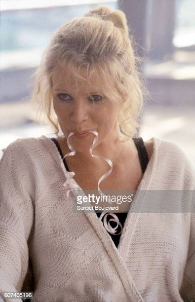 American actress Kim Basinger on the set of Nine 1/2 Weeks directed by Adrian Lyne