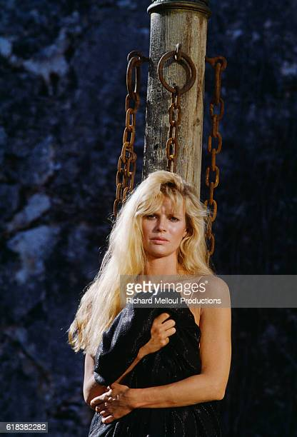 American actress Kim Basinger on the set of the 1983 James Bond film Never Say Never Again directed by Irvin Kershner and starring Sean Connery...