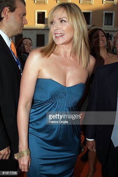 American actress Kim Cattrall of the television series 'Sex and th City' attends Roma Fiction Fest 2008 Closing Ceremony and Diamond Awards on July...