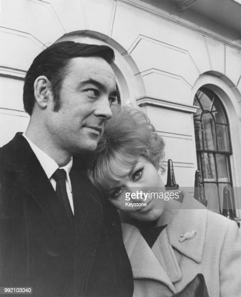American actress Kim Novak and her husband actor Richard Johnson in Fitzroy Square London 15th December 1965