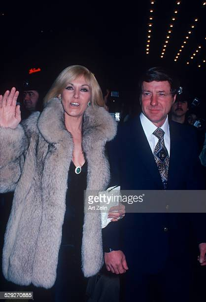 American actress Kim Novak and her husband, Robert Malloy, attend the premiere party for 'The Mirror Crack'd' at the Waldorf Hotel in New York City,...