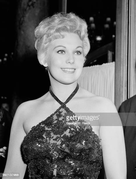 American actress Kim Novak at a nightclub in Cannes, France, during the Cannes Film Festival, 27th April 1956.