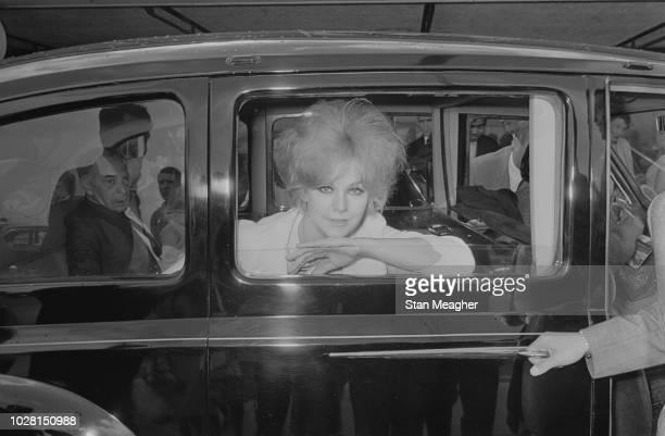 American actress Kim Novak at Heathrow Airport London UK 10th August 1964