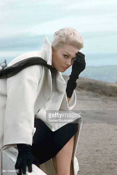 American actress Kim Novak on the set of Vertigo directed and produced by British Alfred Hitchcok Kim Novak plays two roles Judy and Madeleine