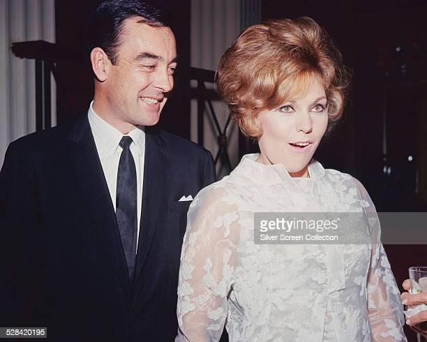 American actress Kim Novak with her husband, English actor Richard Johnson, circa 1965.