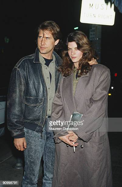 American actress Kirstie Alley with her husband actor Parker Stevenson February 1988