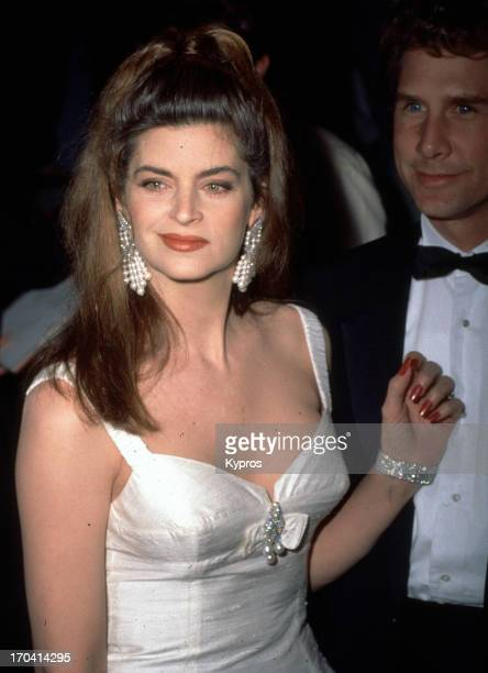 American actress Kirstie Alley with her husband actor Parker Stevenson circa 1990