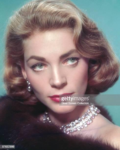 American actress Lauren Bacall, circa 1955.