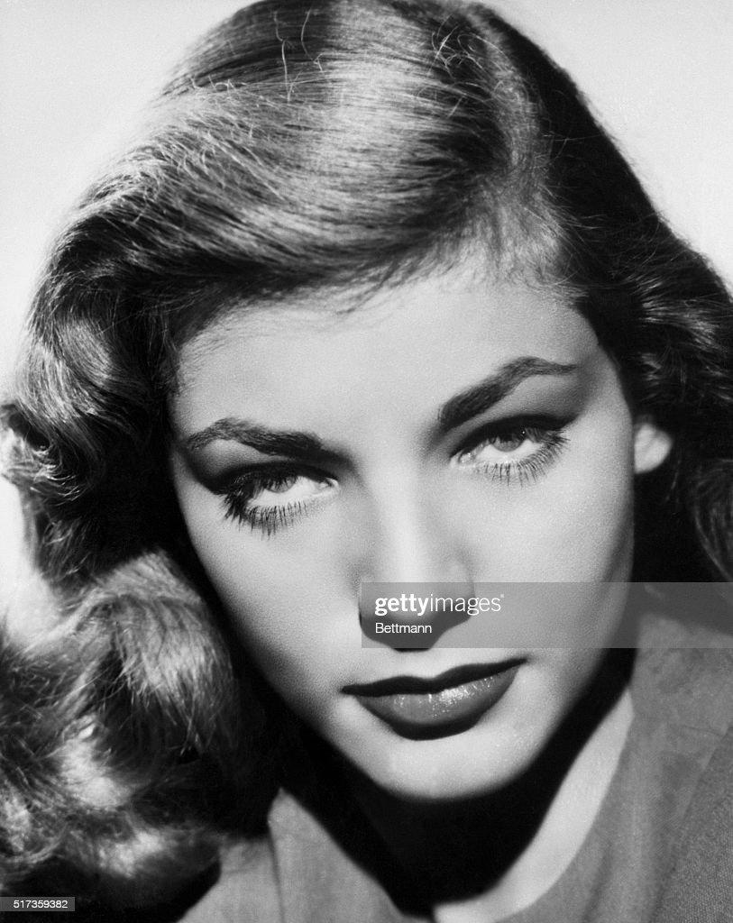 American actress Lauren Bacall.