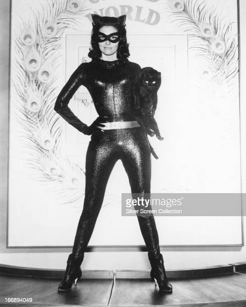 American actress Lee Meriwether as Catwoman in a promotional portrait for 'Batman' directed by Leslie H Martinson 1966